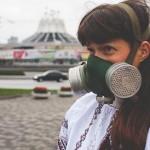 Фотосессиюя в противогазах, днепропетровский фотомарафон в противогазах