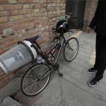 Велосипед со встроенной системой фильтрации воздуха