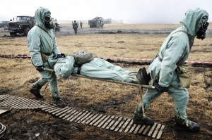 Учения по ликвидации аварии на радиационно-опасном объекте